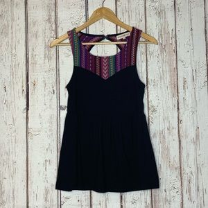Altard state black tank top small